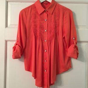Catherine Malandrino orange silk top